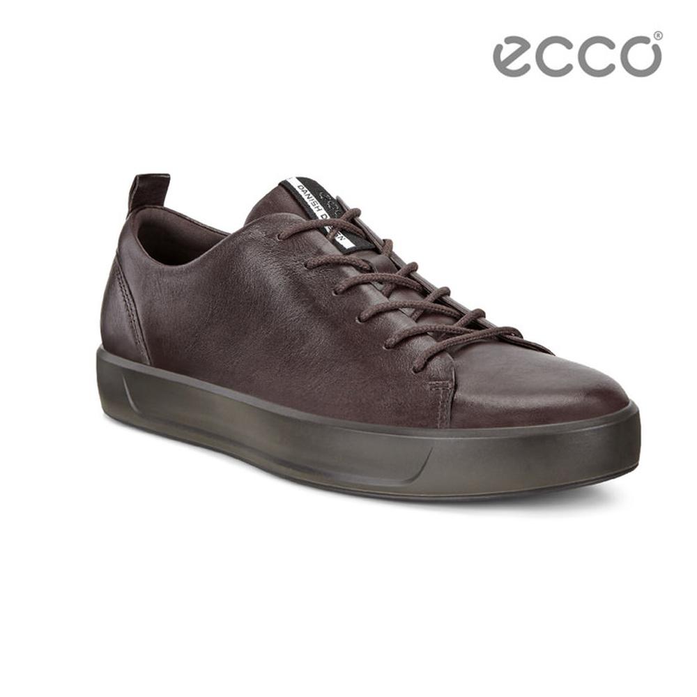 ECCO SOFT 8 MEN'S 簡約休閒鞋-咖