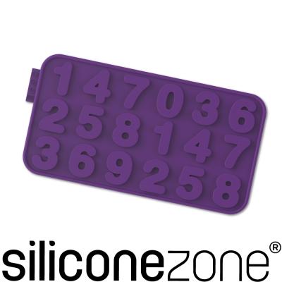 Siliconezone 施理康耐熱矽膠數字巧克力模-紫色