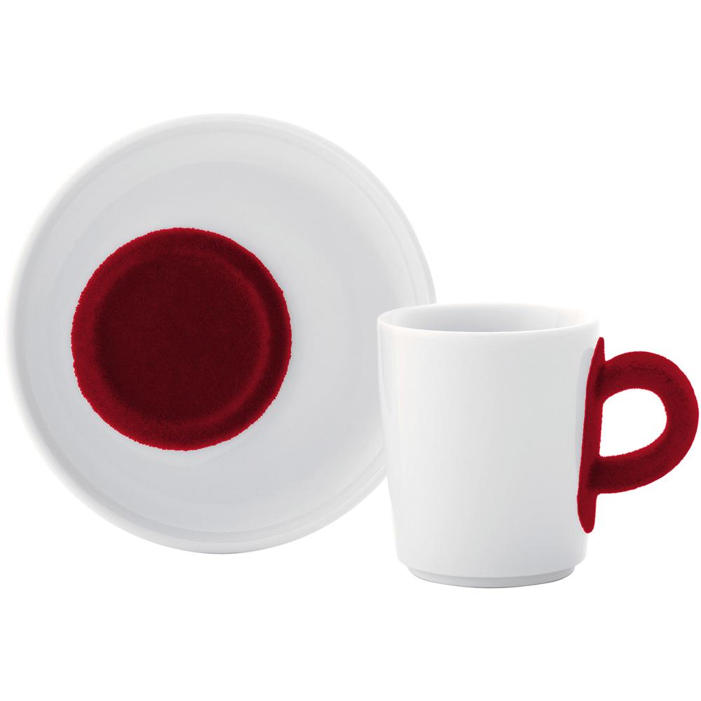 KAHLA Touch濃縮咖啡杯碟組(紅)