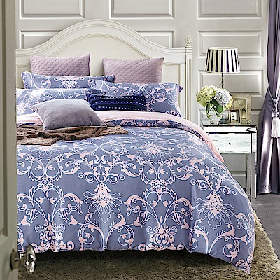 Lily Royal 天絲 特大-四件式兩用被床包組 淡淡的愛戀