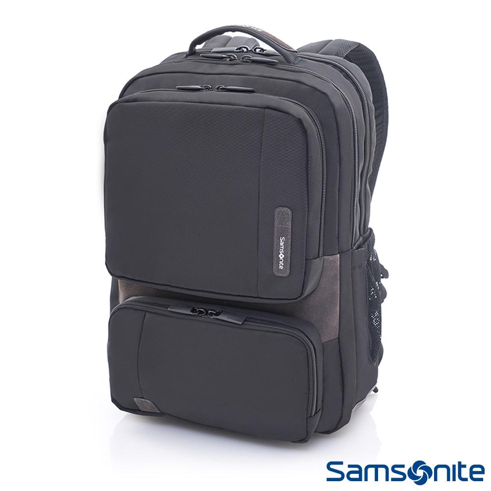 Samsonite新秀麗 Squad都市輕盈休閒筆電後背包I(黑/碳灰)14