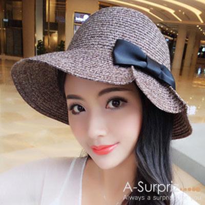 A-Surpriz 標緻蝴蝶混色折疊遮陽帽(咖)