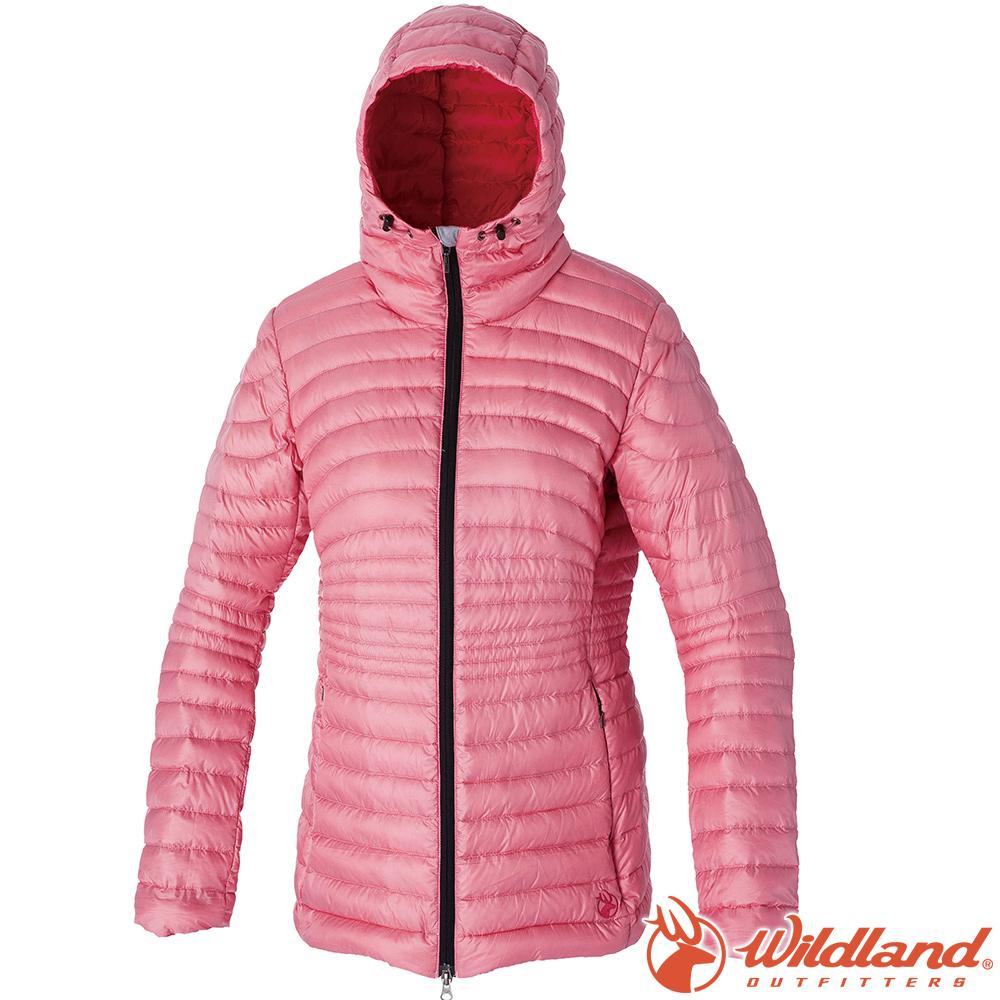 Wildland 荒野 0A52111-28珍珠粉 女700FP輕量時尚連帽羽絨衣