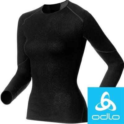 瑞士【Odlo】155161 女加強保暖型圓領排汗衣(黑)