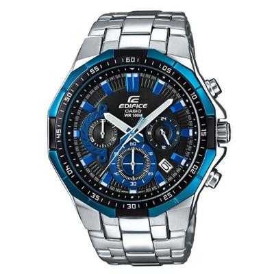 EDIFICE俐落帥氣科技感立體多角切割框賽車錶(EFR-554D-1A2)-藍/47.1mm