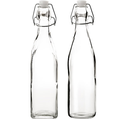 IBILI Kristall扣式密封玻璃瓶( 500 ml)