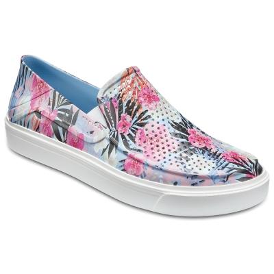 Crocs 卡駱馳 (女鞋) 都會街頭洛卡花紋便鞋 204623-96D