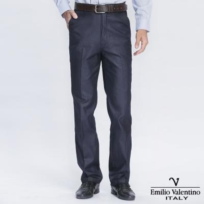 Emilio Valentino 范倫提諾經典仿牛仔休閒褲-灰藍