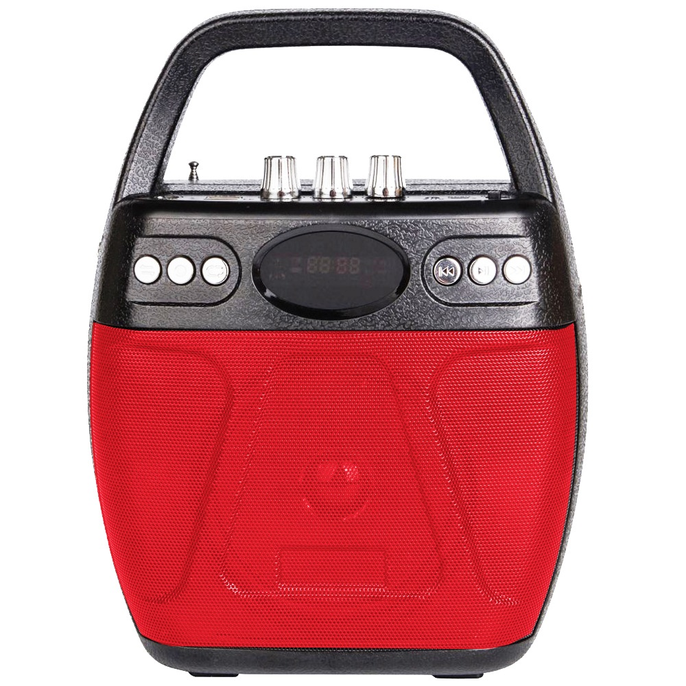 大聲公巧圓型無線式多功能行動音箱/喇叭 (手持麥克風組)