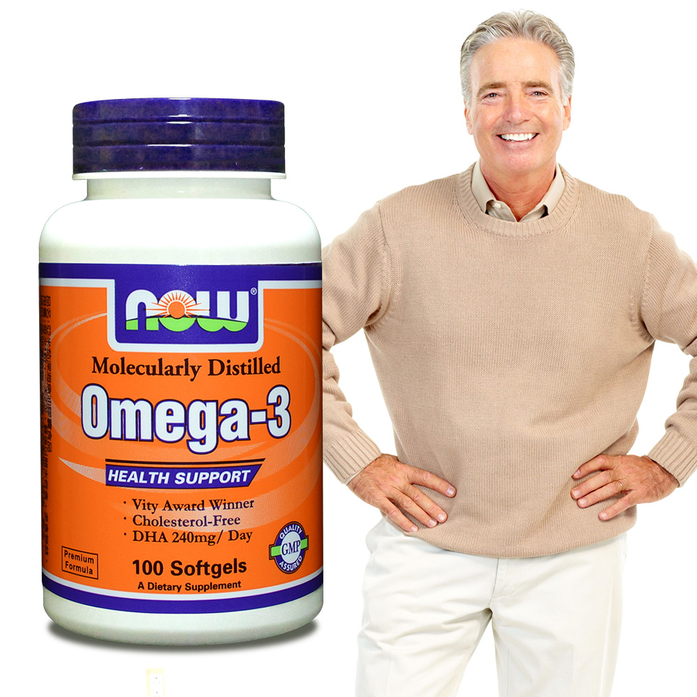 NOW健而婷-Omega-3深海魚油(100顆/瓶)