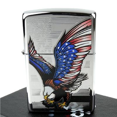 【ZIPPO】美系~Eagle Flag-國旗鷹圖案設計打火機