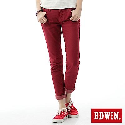 EDWIN AB褲 503JERSEYS迦績色褲-女-紅色