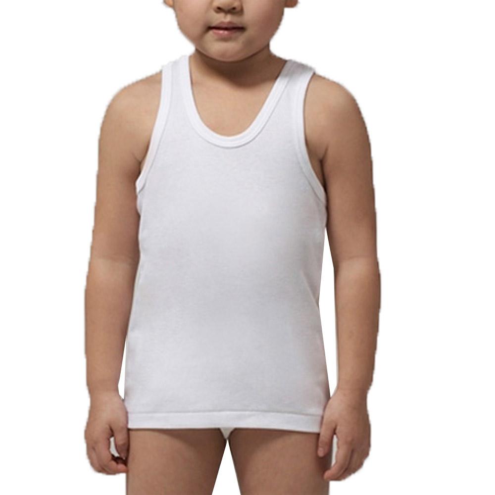 小宜而爽 舒適羅紋男童短袖背心~5件組