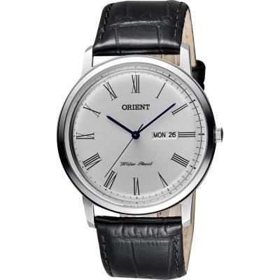 ORIENT 都會羅馬石英腕錶-銀x黑/ 40 mm