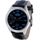 MOSCOW CLASSIC 俄羅斯征服飛航機械腕錶-黑/藍標/41mm