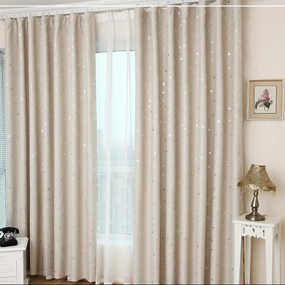布安於室-星晨單層雙用窗簾-米色-寬130x高180cm