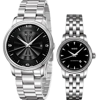 MIDO 經典時尚雅緻機械對錶-黑