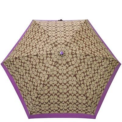 COACH 紫色大C時尚晴雨兩用傘