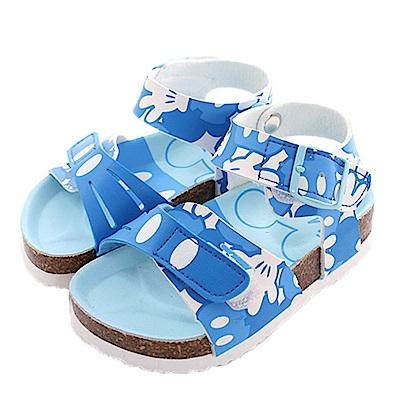 迪士尼米奇魔鬼貼涼鞋 藍 sk0409 魔法Baby