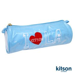 【kitson】 I Heart kitson 防水化妝包 (天空藍)