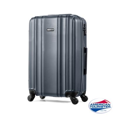 AT美國旅行者24吋Hartford極簡立體硬殼四輪TSA行李箱(碳黑)