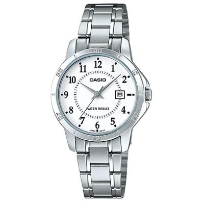 CASIO 經典復古簡約巧小指針日期腕錶-白色(LTP-V004D-7B)/31mm
