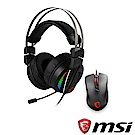 MSI微星 GH70電競耳機+GM10電競滑鼠 超值組合