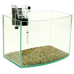 《清新風格》一尺海灣型玻璃水族箱套缸+專用過濾器(台灣缸)