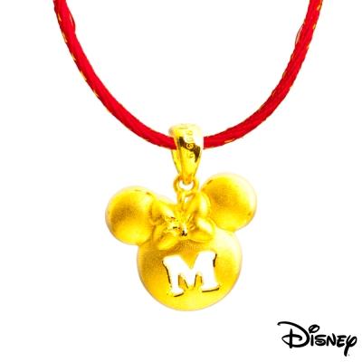 Disney迪士尼系列金飾 黃金墜子-淑女美妮款 送項鍊