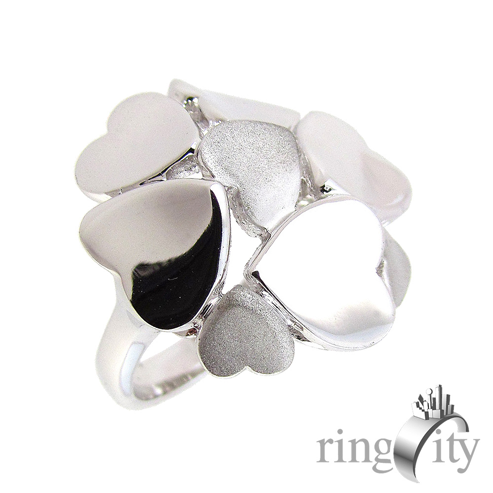 RingCity 白金色心型造型戒