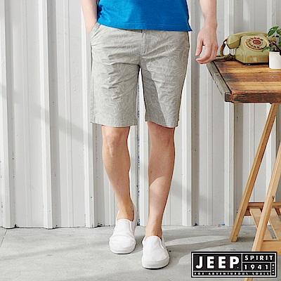 JEEP 休閒度假印花短褲-灰色