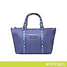 MIRYOKU 時尚休閒系列 / 個性鉚釘尼龍小托特包 (共3色)