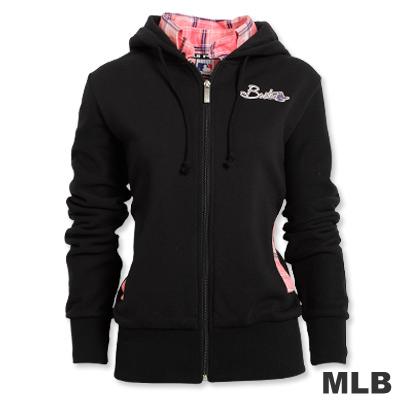 MLB-波士頓紅襪隊假兩件襯衫外套-黑(女)