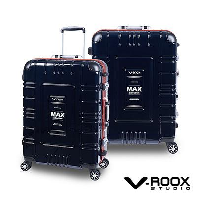V-ROOX MAX  28吋 藍黑(紅框)  潮流個性派鋁框硬殼行李箱