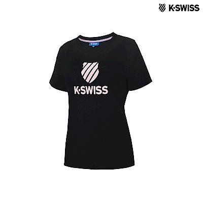 K-Swiss KS Shield Logo Tee印花短袖T恤-女-黑