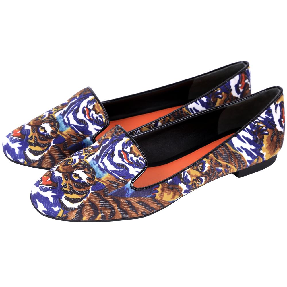 KENZO Flying Tiger 老虎印花平底便鞋