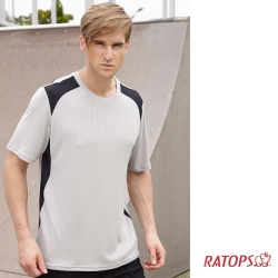 【瑞多仕-RATOPS】男 WINCOOL 短袖排汗衣_DB8865 牆灰/黑