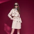 Chaber巧帛 英式雙排釦挺版造型洋裝風衣外套(兩穿兩件式)-駝