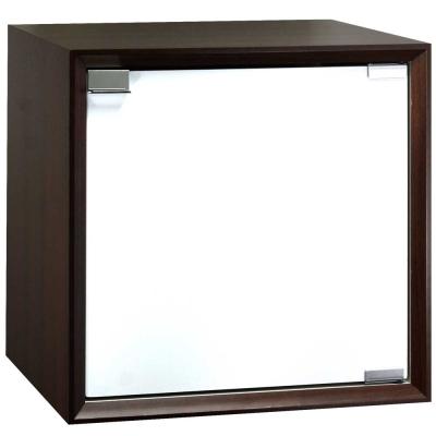 魔術方塊36系統收納櫃/木門櫃-胡桃色