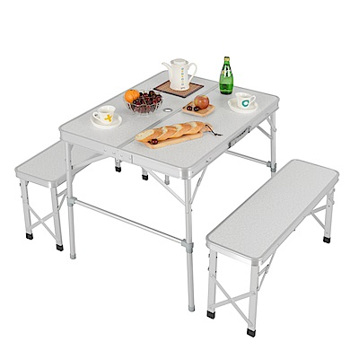 LIFECODE 尊爵二世-鋁合金折疊桌椅