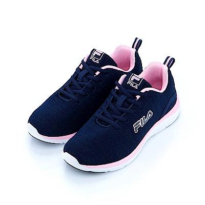 FILA 女慢跑鞋-藍粉 5-J201S-351