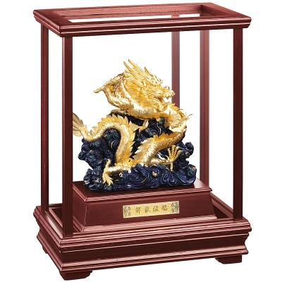 純金 立體金箔櫥窗~【祥龍獻瑞】金龍雕塑