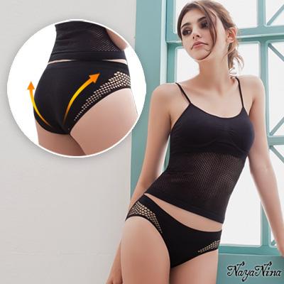 三角褲 性感透氣低腰內褲S-XL(黑)Naya Nina