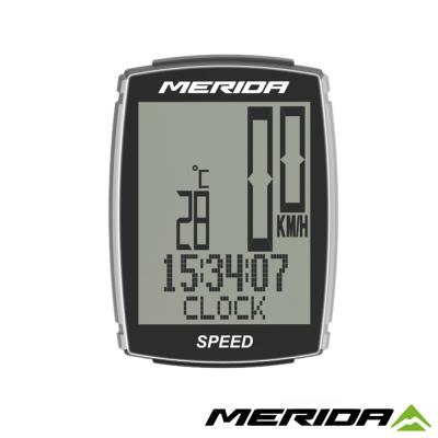 《MERIDA》美利達14功能無線碼錶SPEEDER黑/銀