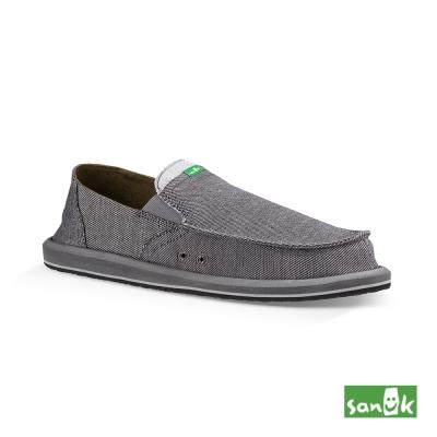 SANUK 口袋系列牛仔帆布懶人鞋-男款(灰色)