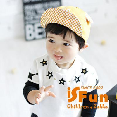iSFun 剪刀石頭布 格紋兒童棒球帽 焦糖