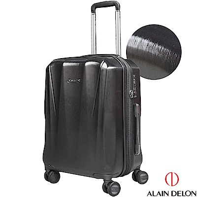 ALAIN DELON 亞蘭德倫 20吋璀璨拉絲系列登機箱(黑)