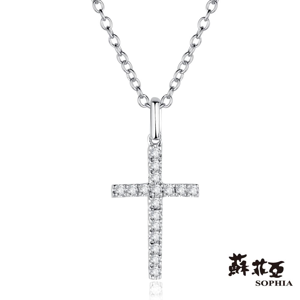 蘇菲亞SOPHIA 鑽石項鍊-十字架造型鑽鍊