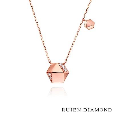 RUIEN DIAMOND 韓國輕珠寶 飾品 配件14K玫瑰金 項鍊 LN128