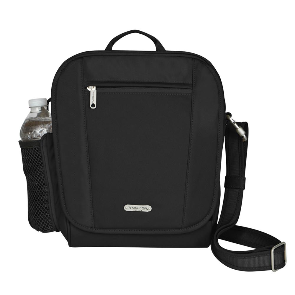 Travelon美國防盜包 防盜防割鋼網RFID小方形肩包 TL-42472-13 黑